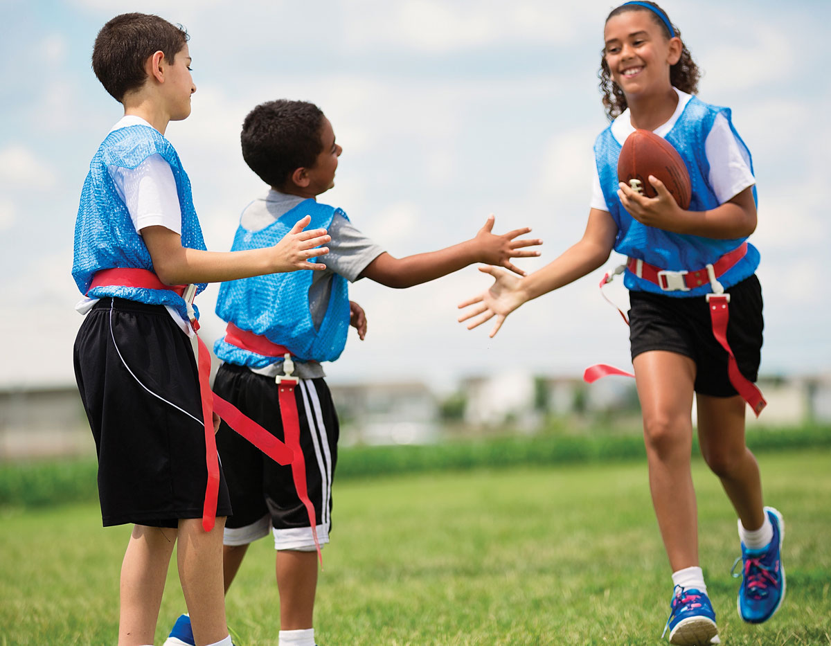 Flag Football Kids Youth Competitive Sports