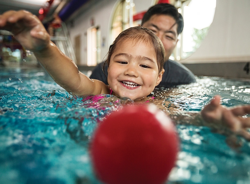 Beginner Childrens Swim Lessons at the Lynchburg Va YMCA